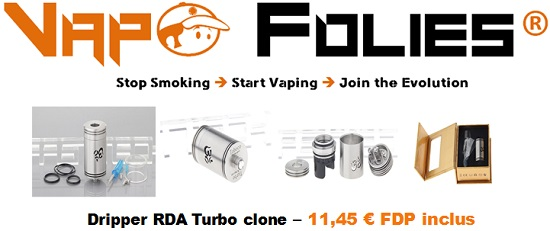 dripper rda turbo clone vapofolies