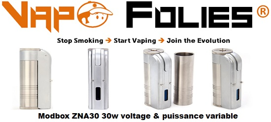 modbox zna30 30w voltage puissance variable clone vapofolies