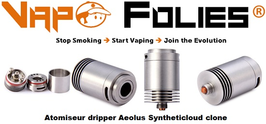 atomiseur dripper aeolus syntheticloud clone vapofolies