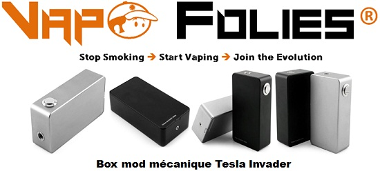 box mod mecanique tesla invader vapofolies