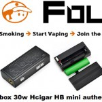 mod box 30w hcigar hb mini authentique vapofolies