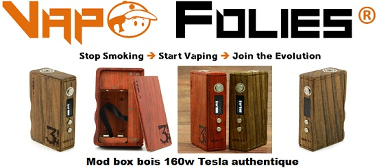mod box bois 160w tesla authentique vapofolies