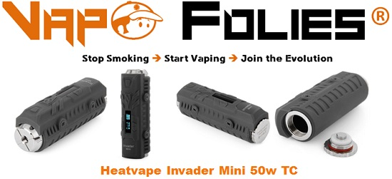 heatvape invader mini 50w tc vapofolies