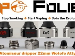 Atomiseur dripper 22mm Wotofo Atty v3 – 19.77€