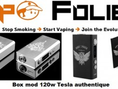 Box mod 2 x 18650 120 watts Tesla – 58,85 € FDP inclus