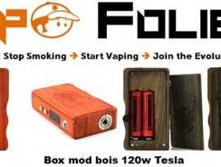 Mini box mod Tesla 120 watts en bois – 58,54 € FDP inclus