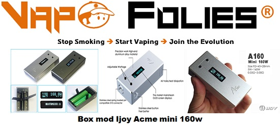 box mod ijoy acme mini 160w vapofolies