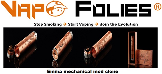 emma mechanical mod clone vapofolies