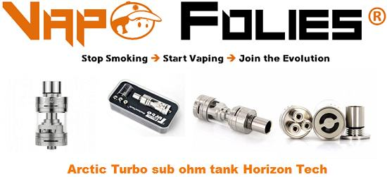 arctic turbo sub ohm tank horizon tech vapofolies