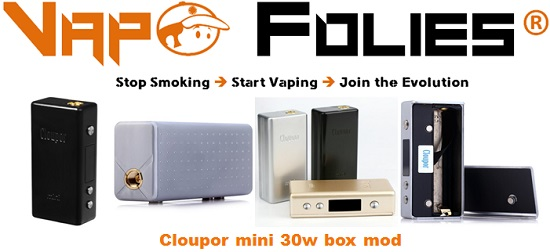 cloupor mini 30w box mod vapofolies